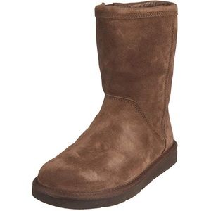 Ugg Roslynn Boots Sheepskin Leather Brown